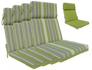 hi back chair cushion outdoor high back chair cushions