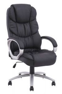 high back desk chair black pu leather high back office chair executive task ergonomic computer desk