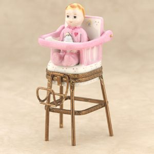 high chair for baby girls limoges baby girl on high chair box