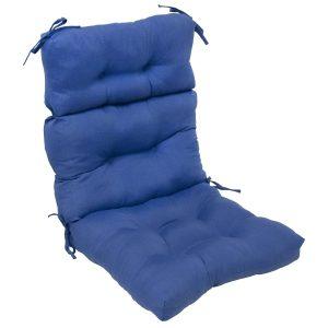 highback chair cushion greendale home fashions indoor outdoor high back chair cushion marine blue
