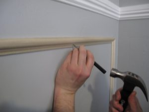 how to install chair railing img