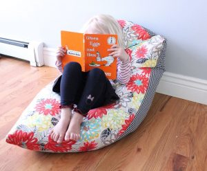 how to make a bean bag chair how to use a beanbag for reading