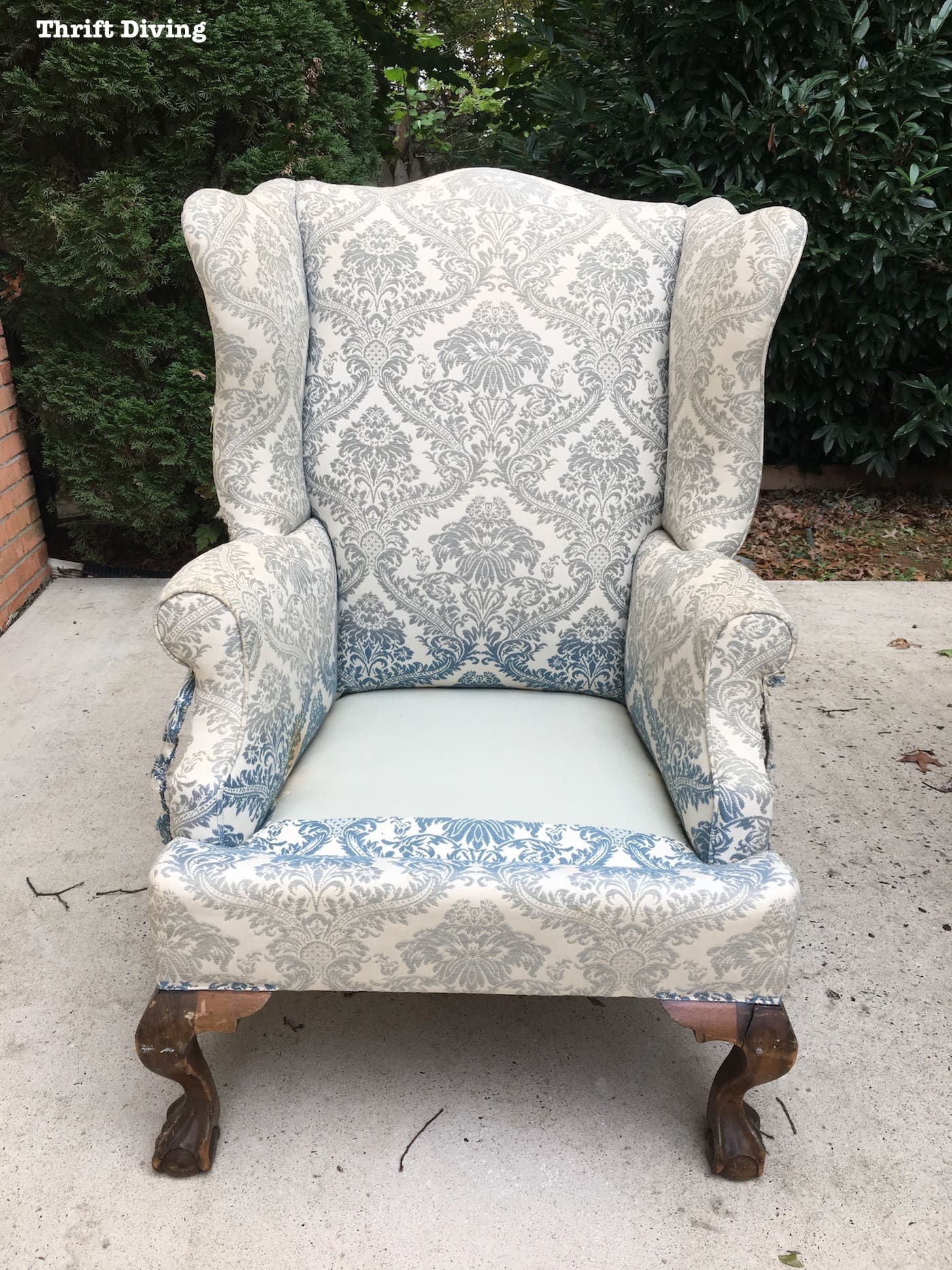 how to reupholster a wingback chair how to reupholster a wingback chair thrift diving
