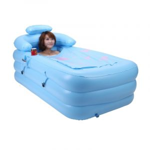 inflatable pool chair inflatble adult bathtub (blue)