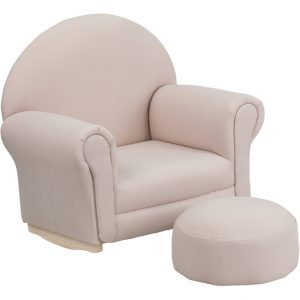kids lounge chair kids rocker chair footrest beige