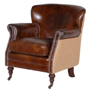 leather arm chair gatsby brown leather armchair p