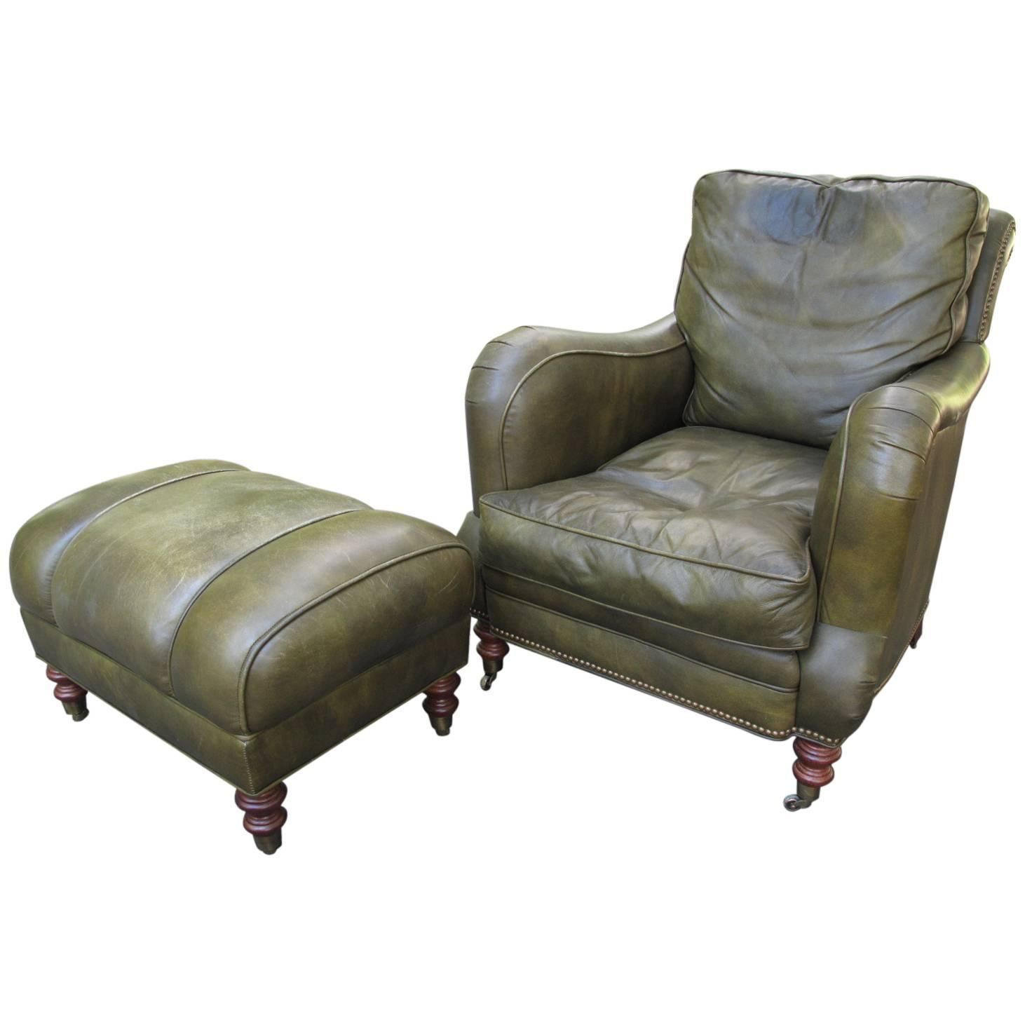 leather chair with ottoman z