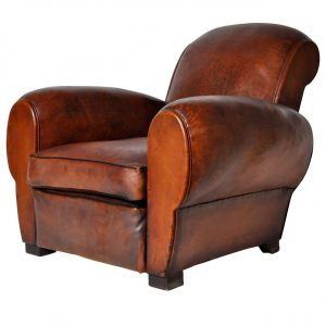 leather club chair l