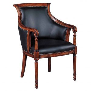 leather desk chair charles wrapped leather desk chair in wooden