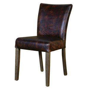 leather kitchen chair pj b marlow dining chair brown