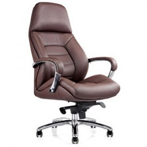 leather office chair gates genuine leather aluminum base office chair dark brown