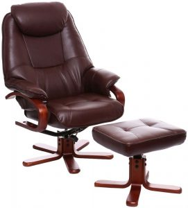 leather recliner chair gfa macau nut brown bonded leather swivel recliner chair