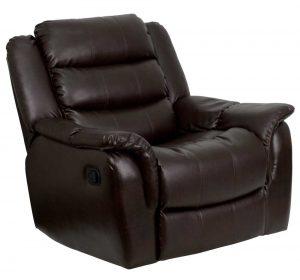leather recliner chair flash furnitureplush brown leather rocker recliner chair