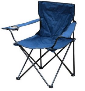 lightweight camping chair blue