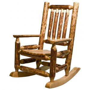 log rocking chair glacier childs rocker f