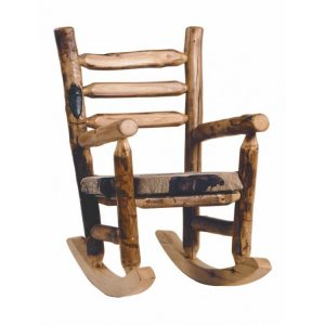 log rocking chair mwupholsteredrockingchair