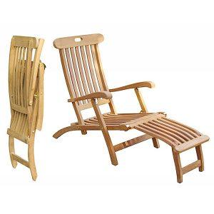 lounge chair outdoor teak steamer totss