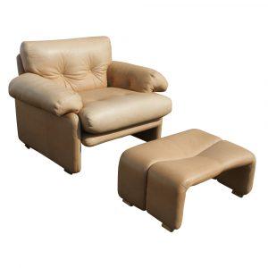 lounge chair with ottoman newitaliananilineleatherloungeottoman