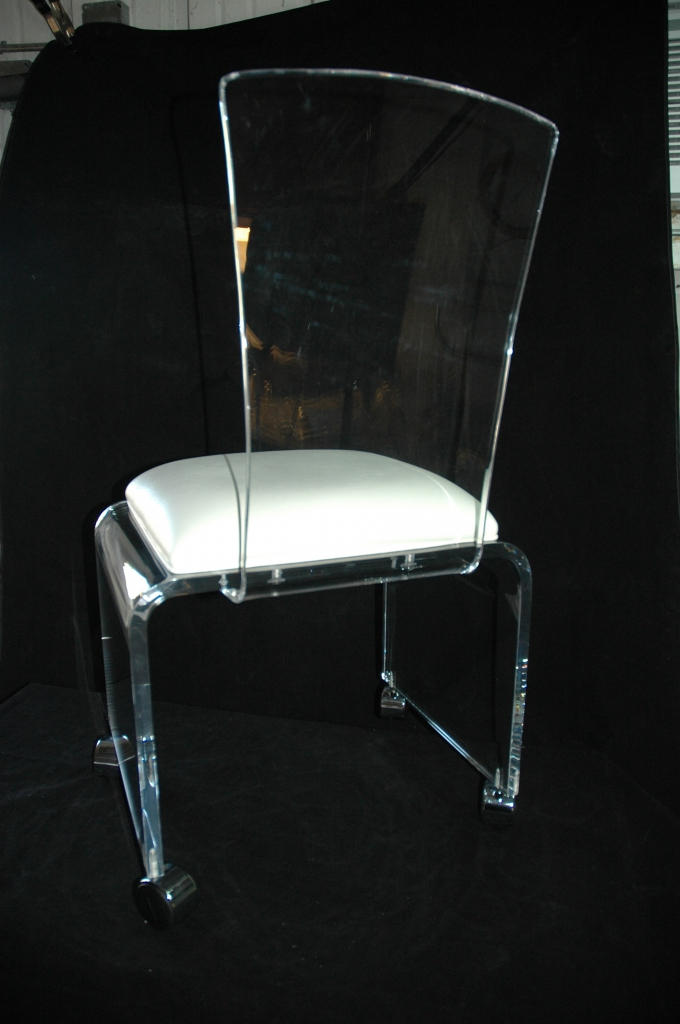 lucite desk chair