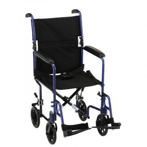 medline ultralight transport chair nova lightweight comet transport chair blue