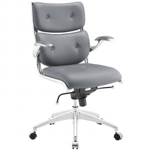 mid back office chair modway push mid back office chair in gray