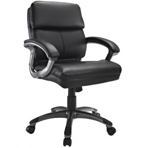midback office chair modway stellar mid back office chair in black