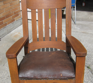 mission style chair rocker a
