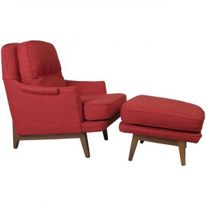 modern chair and ottoman l