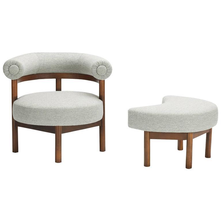 modern chair and ottoman