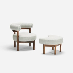 modern chair and ottoman wn z