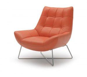 modern lounge chair divani casa a modern orange leather lounge chair red