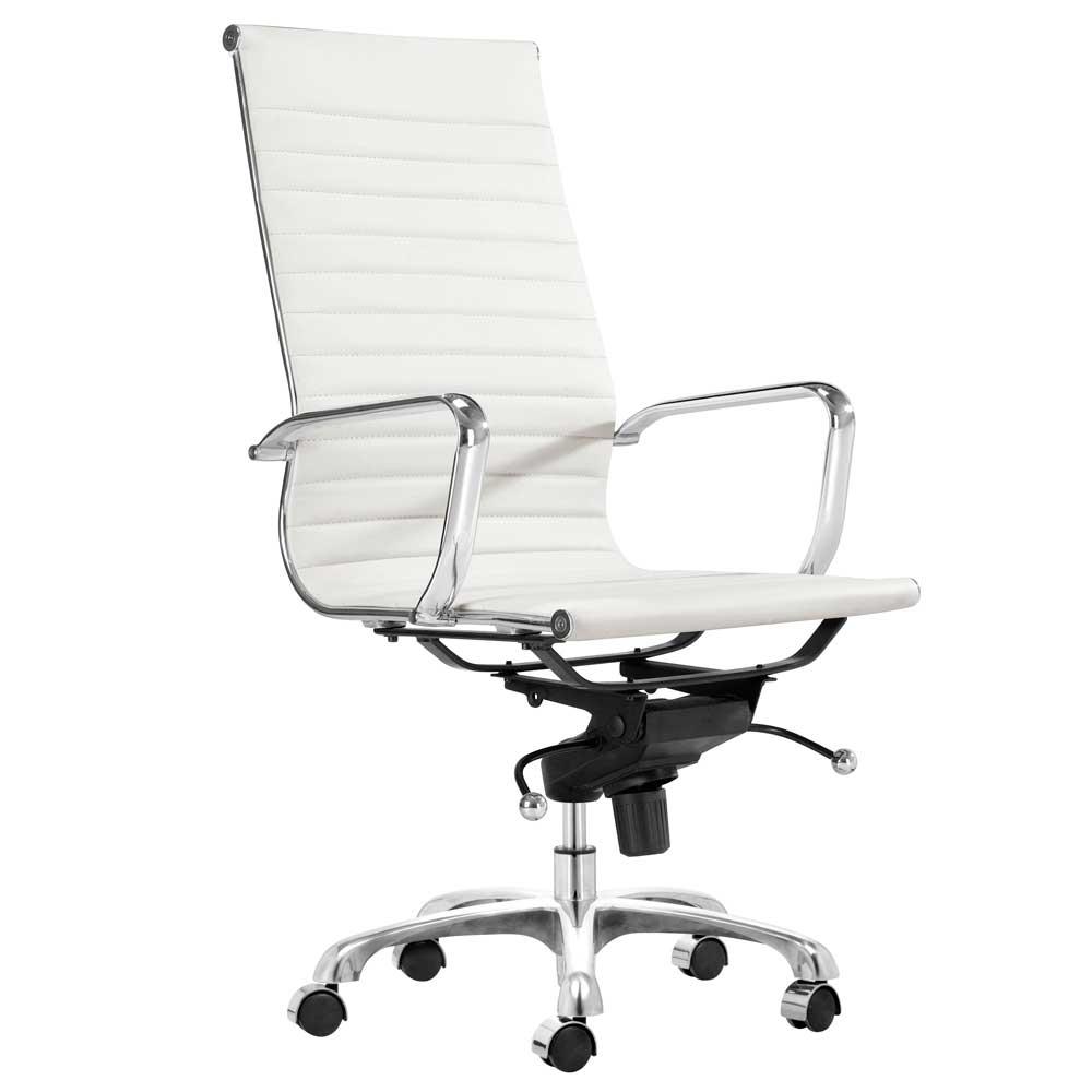 modern white office chair