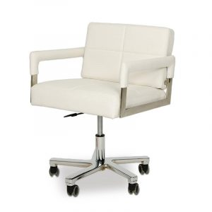 modern white office chair image