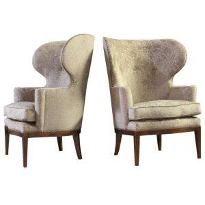 modern wingback chair l