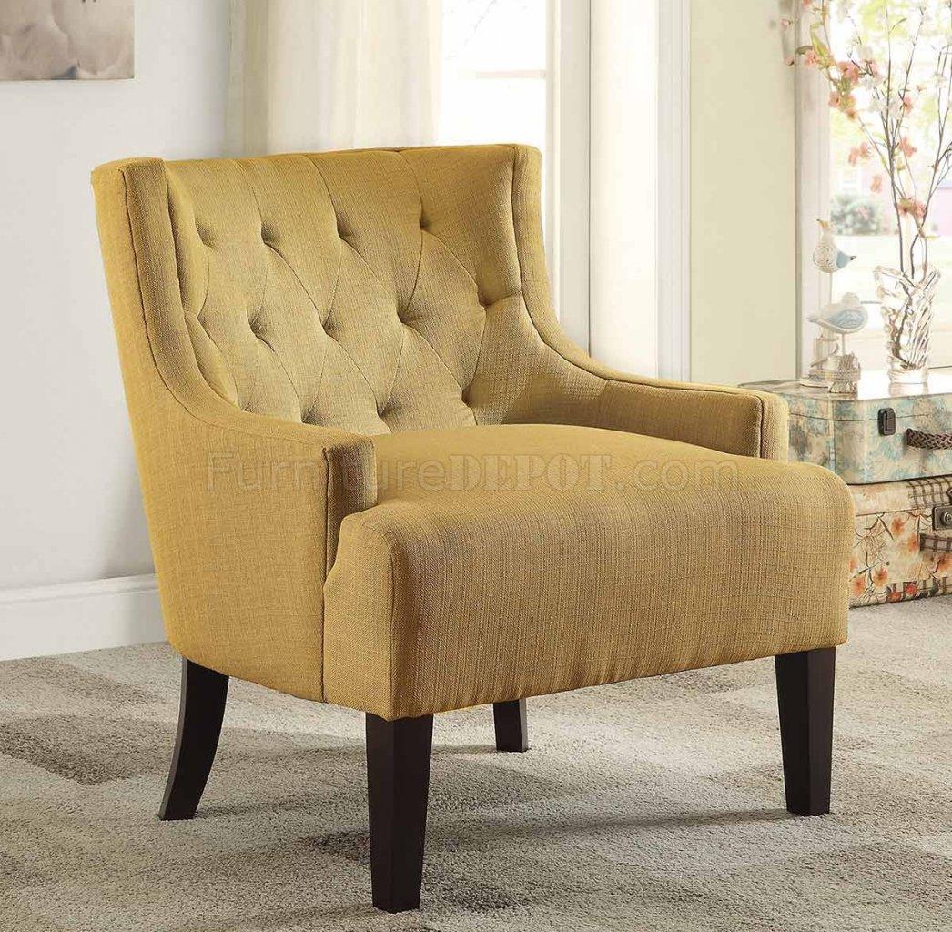 mustard accent chair