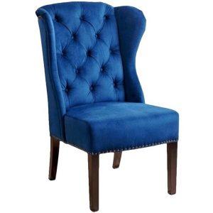 navy blue wingback chair abbyson living br ac blu