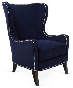 navy blue wingback chair contemporary armchairs and accent chairs