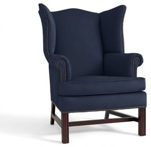 navy blue wingback chair traditional armchairs and accent chairs