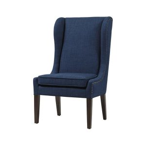 navy wingback chair traditional wing navy wingback dining chair
