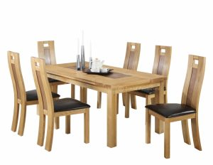 oak dining table and chair solid oak dining table and chairs modest with image of solid oak property fresh in design
