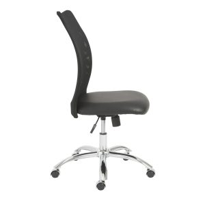 office chair no arms euro style sabati collection sabati mesh office chair no arms in black chrome