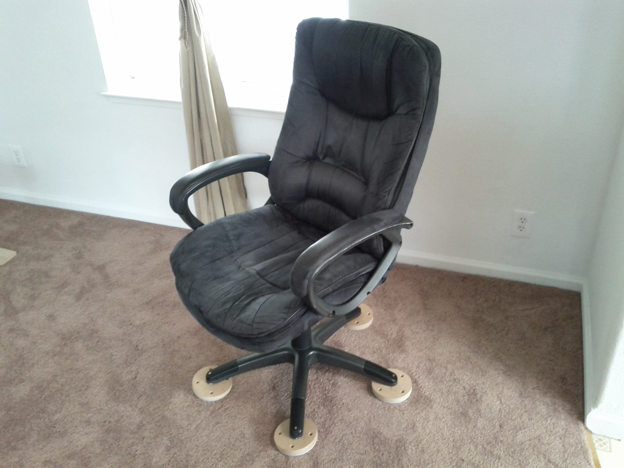 office chair on carpet