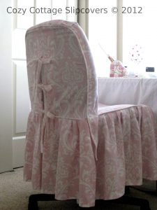 office chair slipcover tammy pink