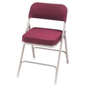 padded folding chair national sleek magenta folding padded chairs