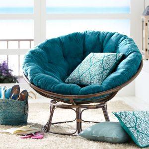 papasan chair frame and cushion papasan blue design