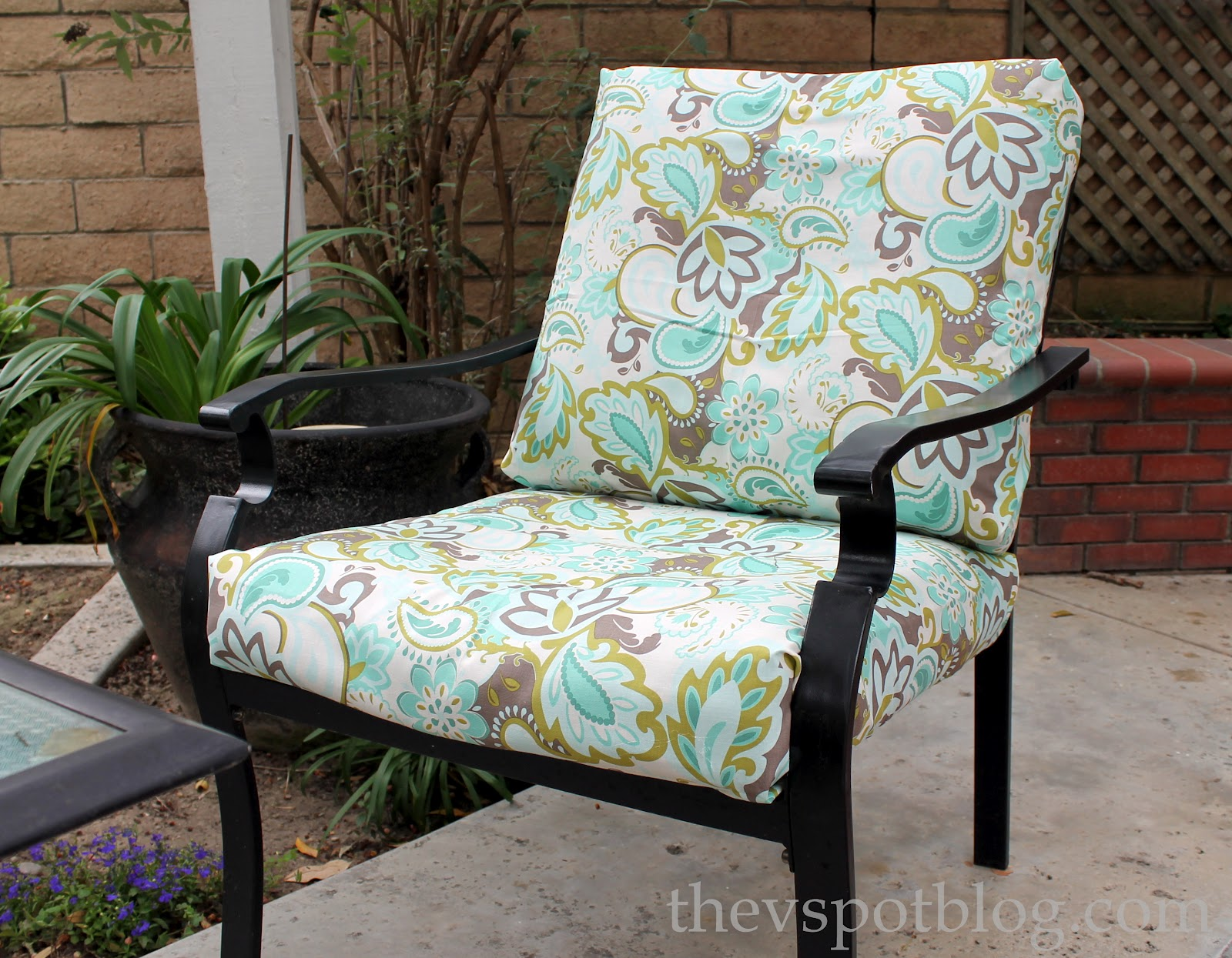 patio chair cushion paisley patio chair, cushion, fabric, turquoise