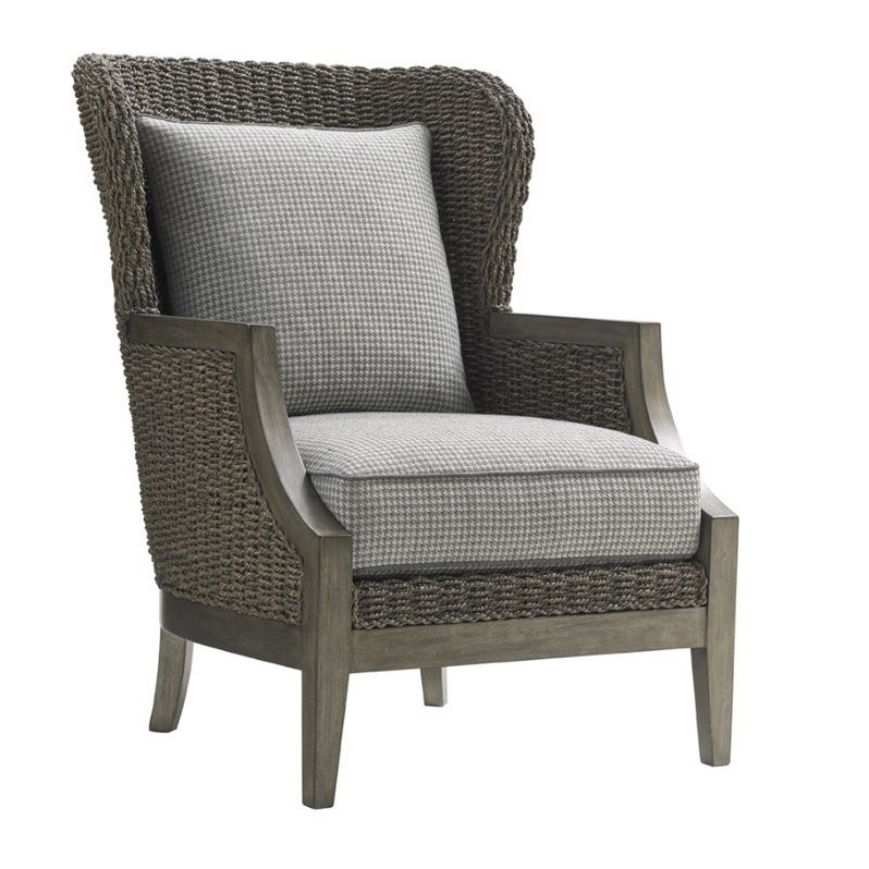 plaid accent chair l