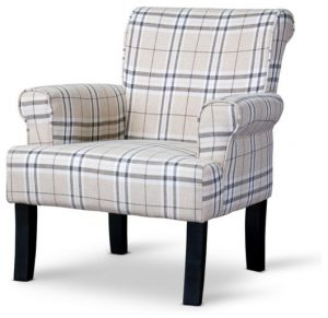 plaid accent chair contemporary armchairs and accent chairs
