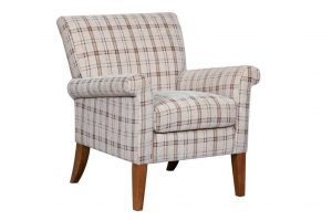 plaid accent chair prodzoomimg