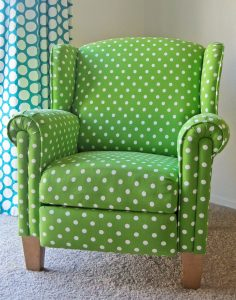 polka dot chair green polka dot chair